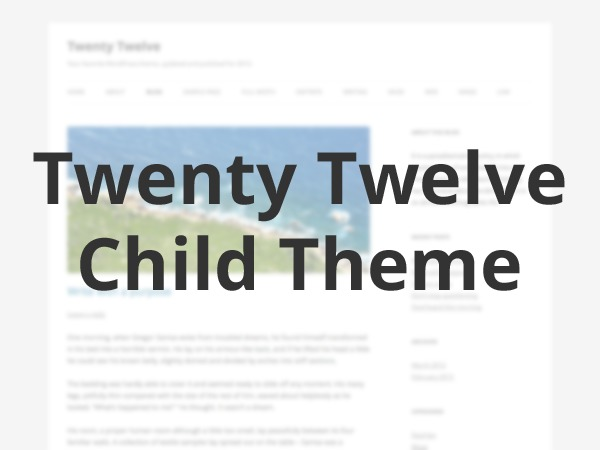 Template WordPress Twenty Twelve Child by PabstWP