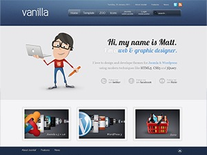 Template WordPress Vanilla