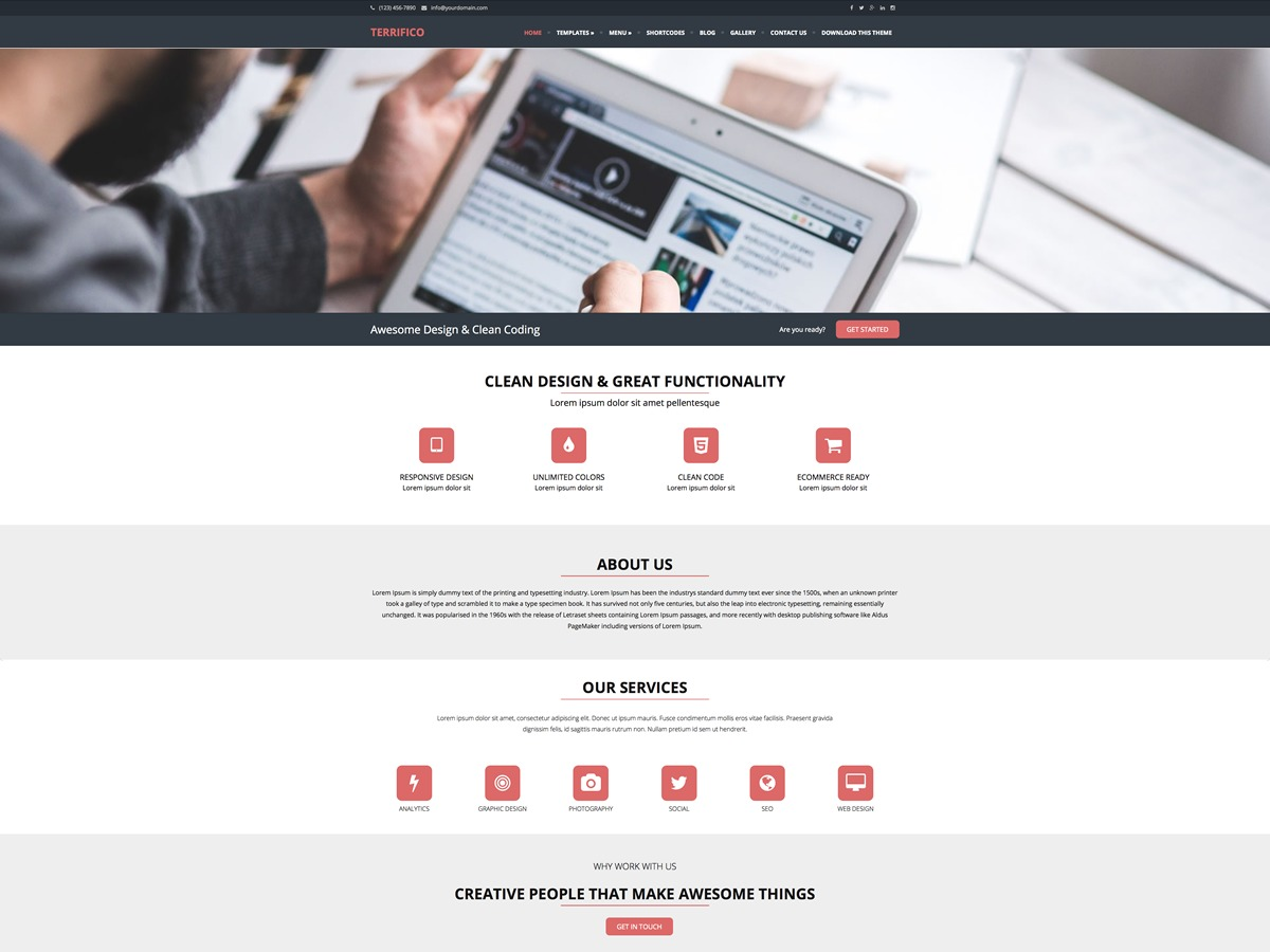 Terrifico free WP theme