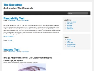 The Bootstrap WordPress theme image