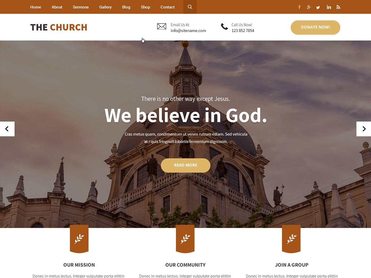 The Church WordPress theme