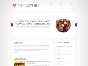 The Future Red top WordPress theme