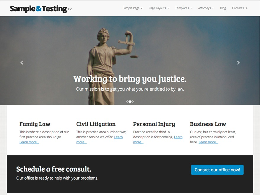 The Modern Law Firm business WordPress theme
