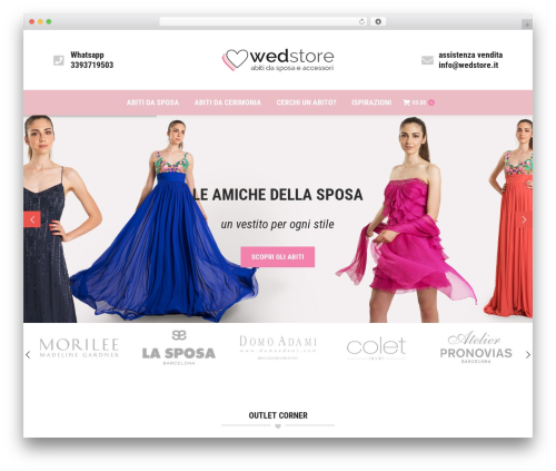 The7 WordPress ecommerce template - wedstore.it