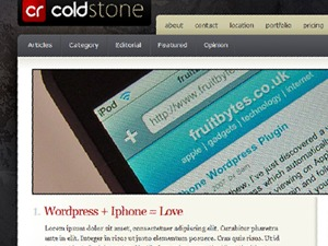 Theme WordPress Coldstone