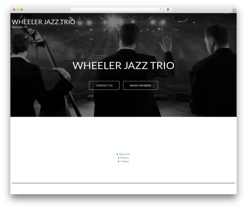 Theme WordPress MinimalZerif - wheelerjazztrio.com