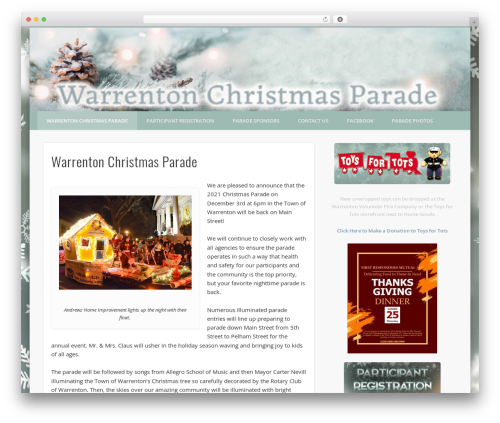 Theme WordPress Pinboard - warrentonchristmasparade.com
