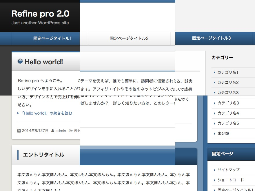 Theme WordPress Refine Pro
