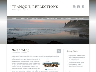 Theme WordPress Tranquil Reflections
