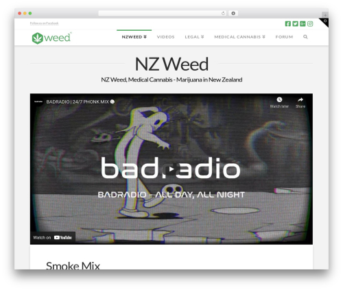 Theme WordPress X - weed.nz
