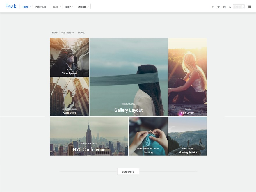 Themify Peak WordPress theme design
