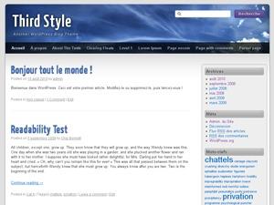 Third Style premium WordPress theme