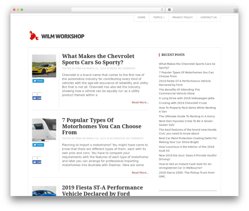 Top WordPress store theme - wilmworkshop.org