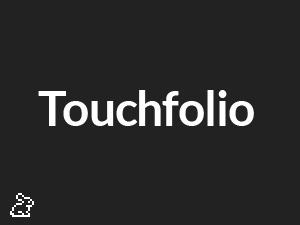 Touchfolio personal blog WordPress theme