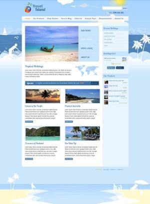 Travel Island WordPress travel theme