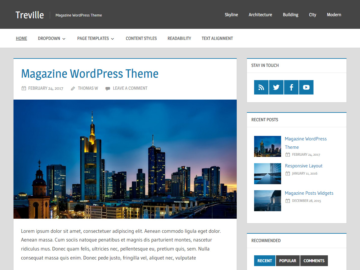 Treville WordPress news theme
