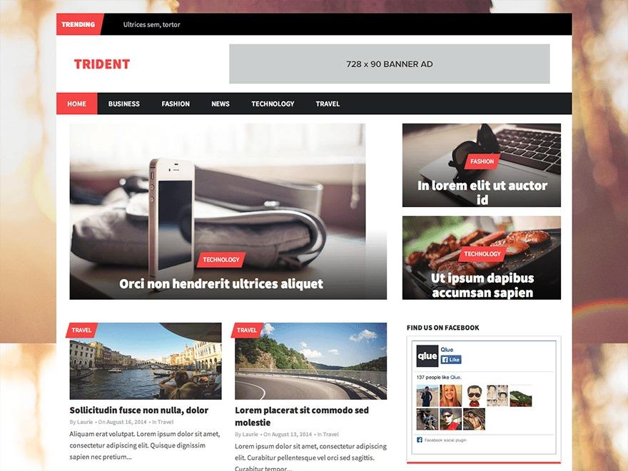 Trident Lite WordPress news template