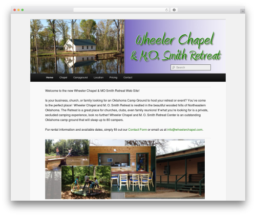 Twenty Eleven WordPress template free - wheelerchapel.com
