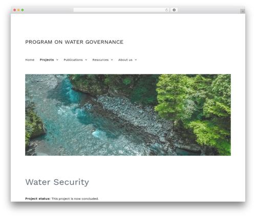 Twenty Sixteen premium WordPress theme - watergovernance.ca/projects/water-security