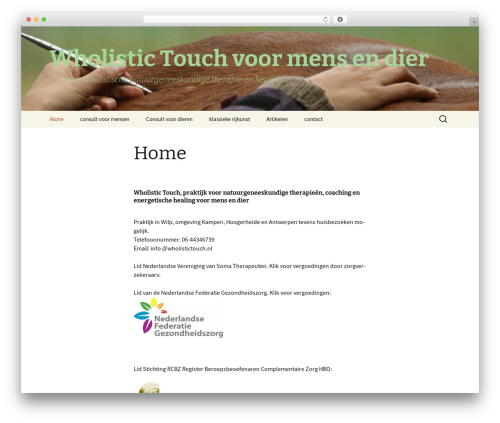 Twenty Thirteen theme WordPress - wholistictouch.nl