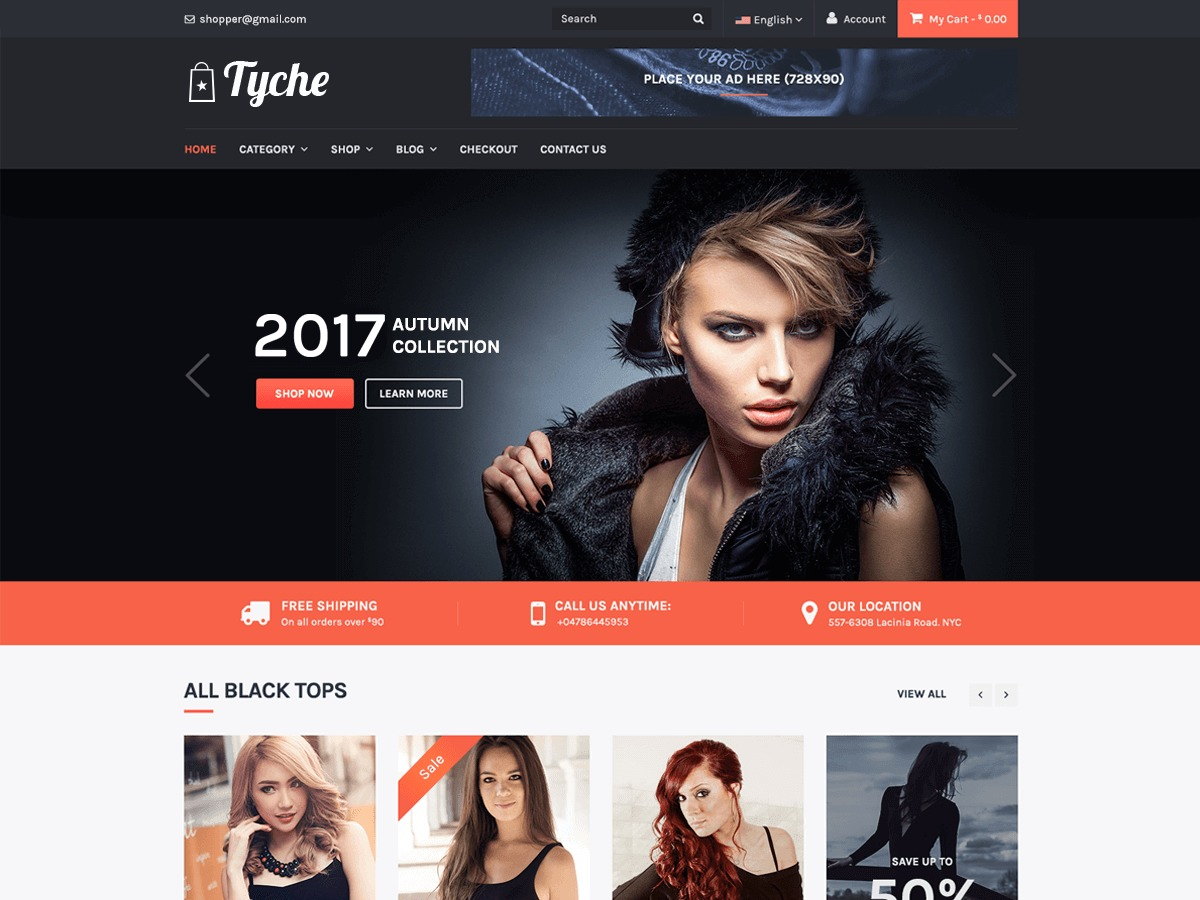 Tyche WordPress shopping theme
