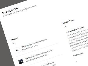un.complicated Wordpress Theme WordPress theme