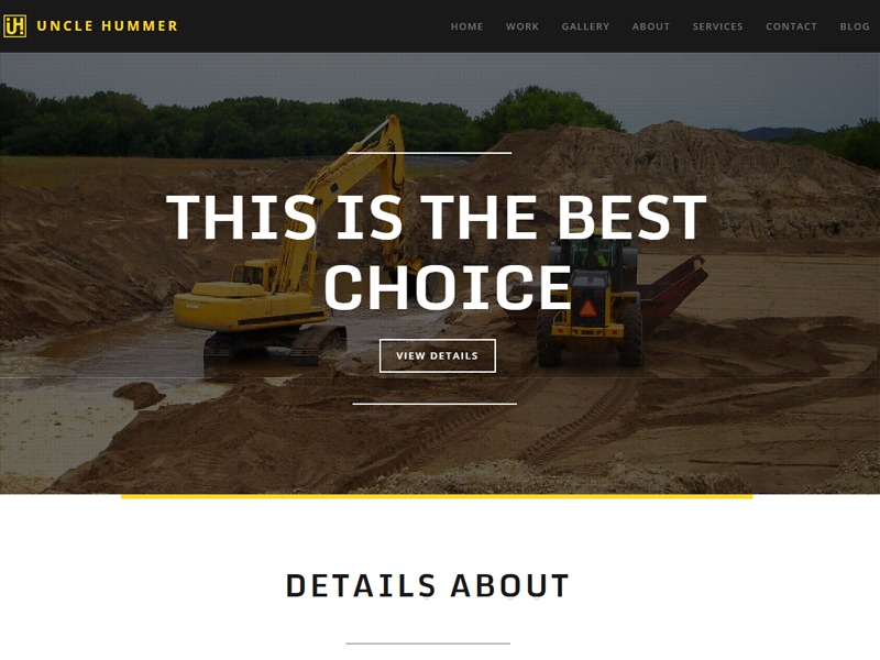 Uncle Hummer theme WordPress
