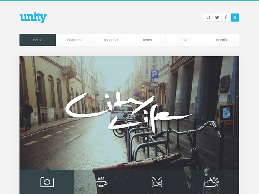 Unity WordPress page template