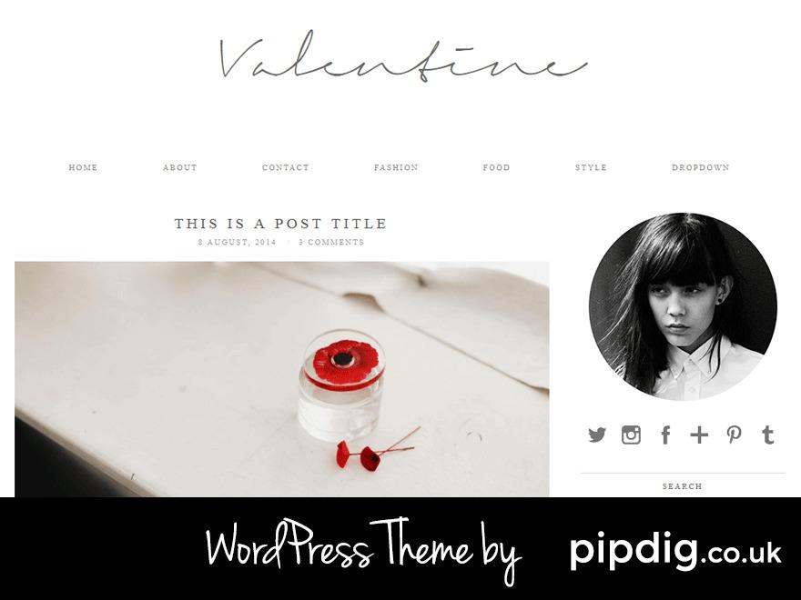 Valentine (pipdig) WordPress theme