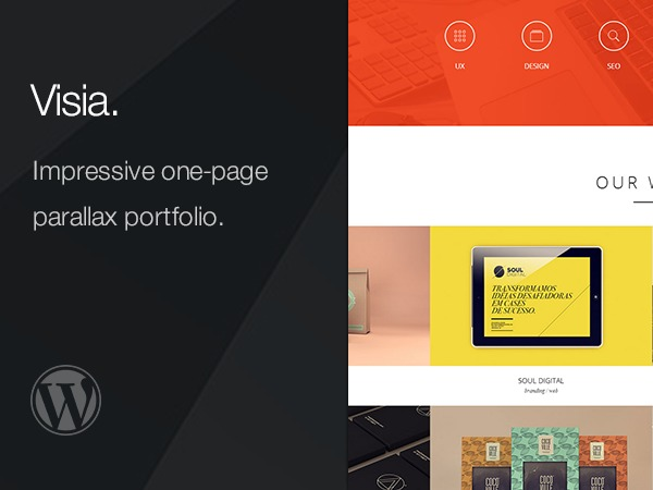 Visia theme WordPress portfolio