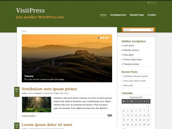 VisitPress WordPress blog theme