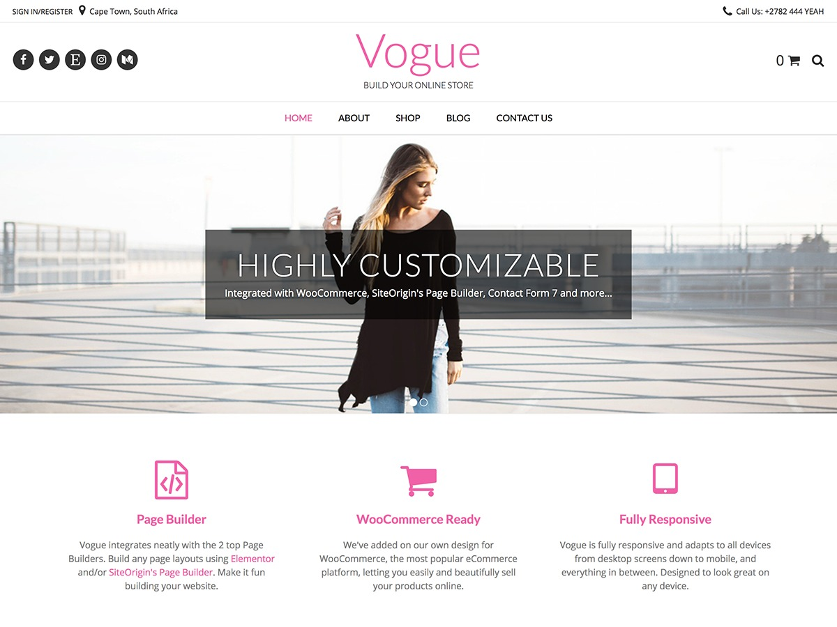 Vogue best WooCommerce theme