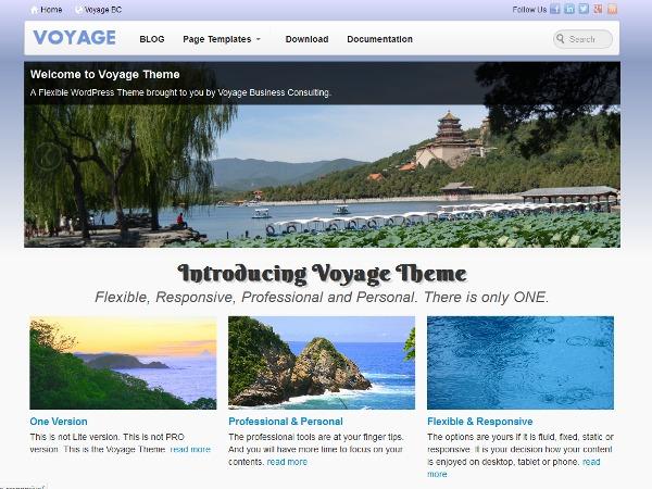 Voyage WordPress ecommerce template