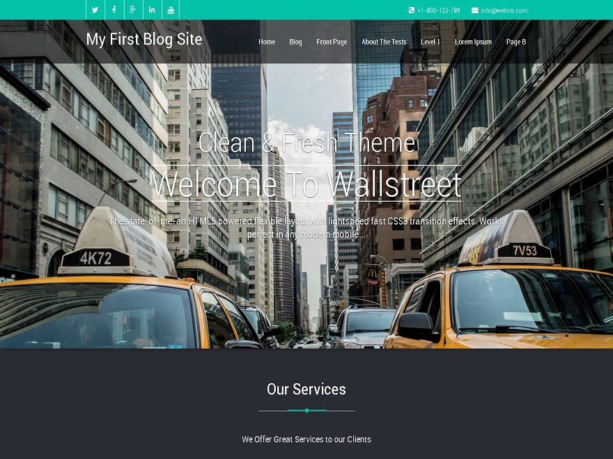Wallstreet WordPress theme free download