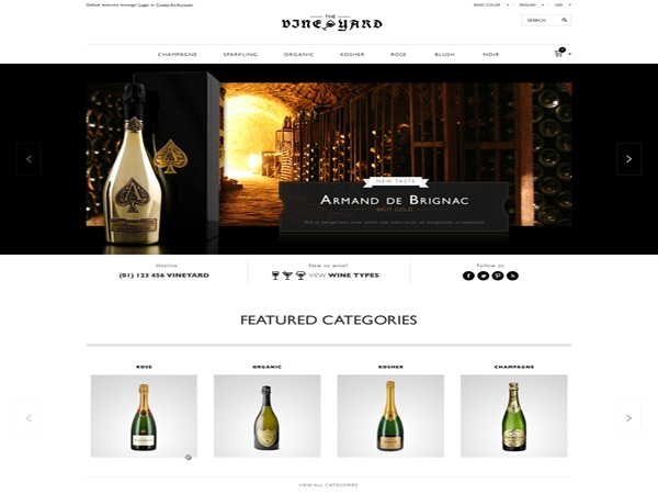 WD WineStore WordPress shop theme