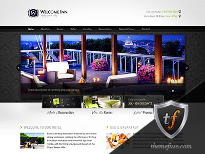 Welcome Inn best hotel WordPress theme