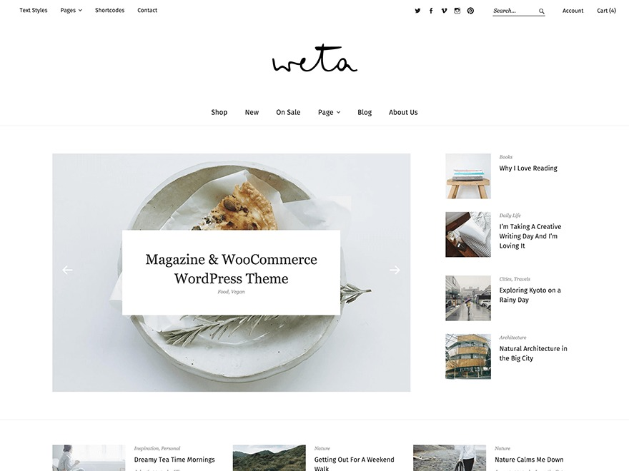 Weta WordPress shopping theme