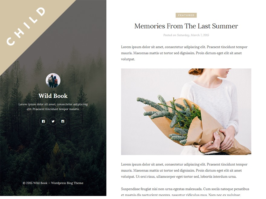 Wild Book Child WordPress theme
