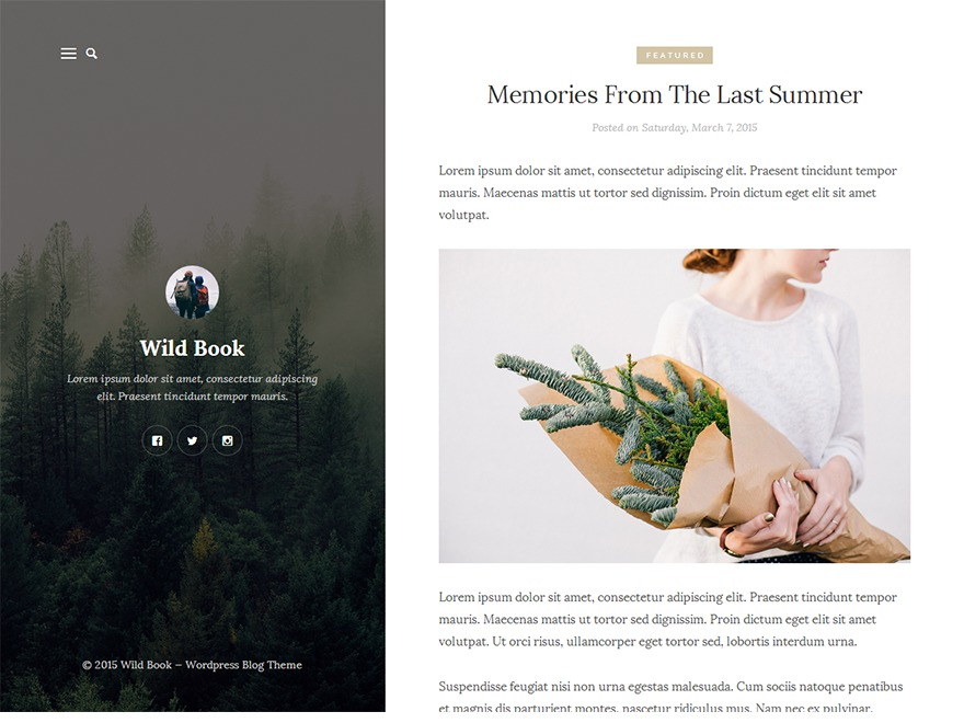 WildBook photography WordPress theme