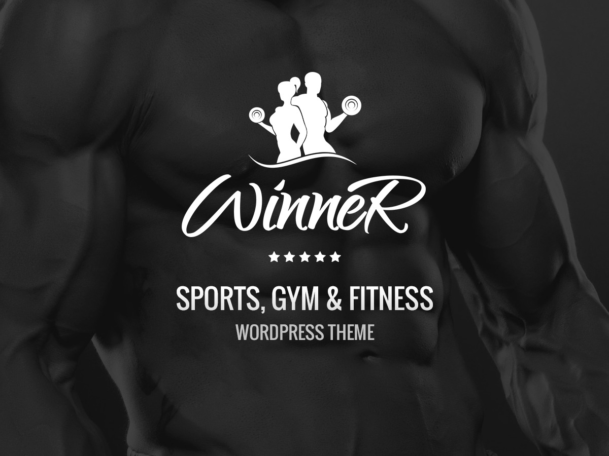 Winner fitness WordPress theme