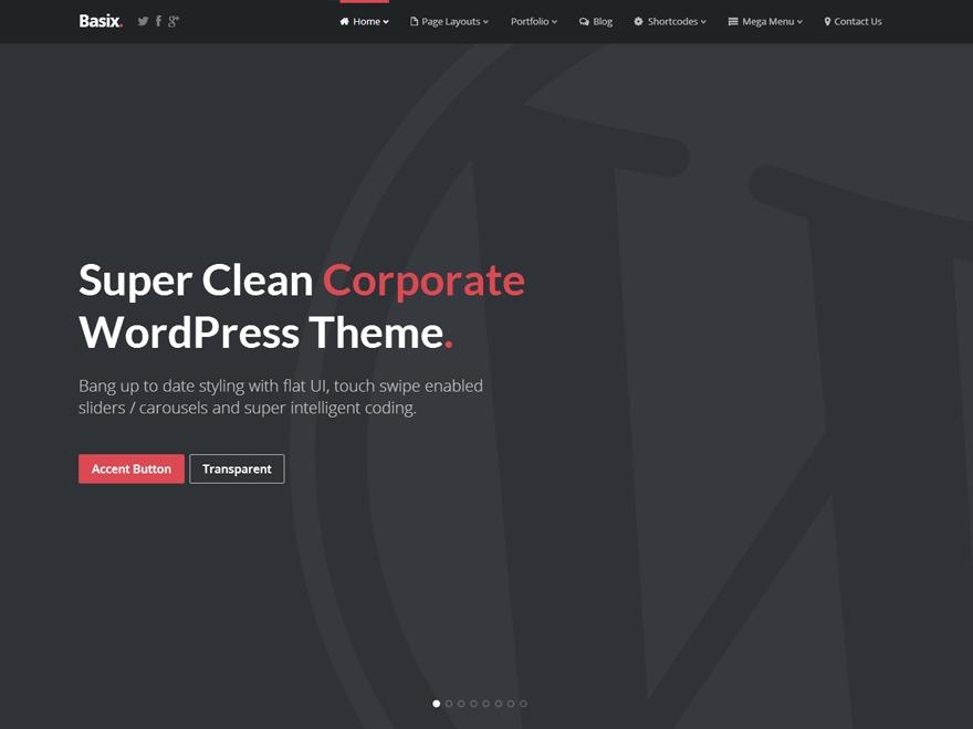WMS WordPress website template
