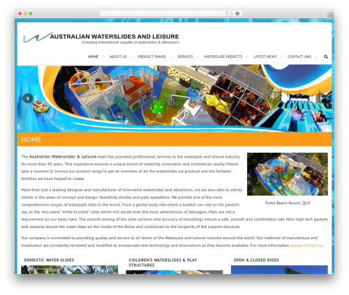 WordPress template AccessPress Root Pro - waterslide.net