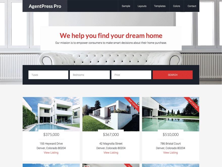 WordPress template AgentPress Pro Theme