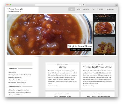 WordPress template CookingPress - wheatfreeme.com