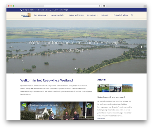 WordPress template Divi - watersnip.info