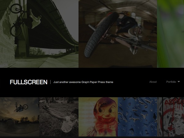 WordPress template Fullscreen