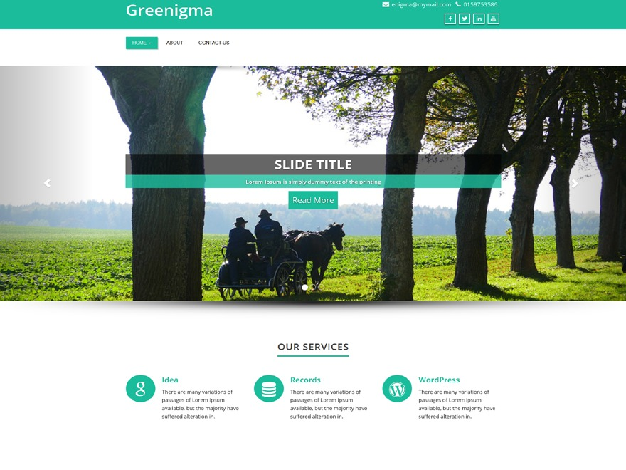 WordPress template Greenigma
