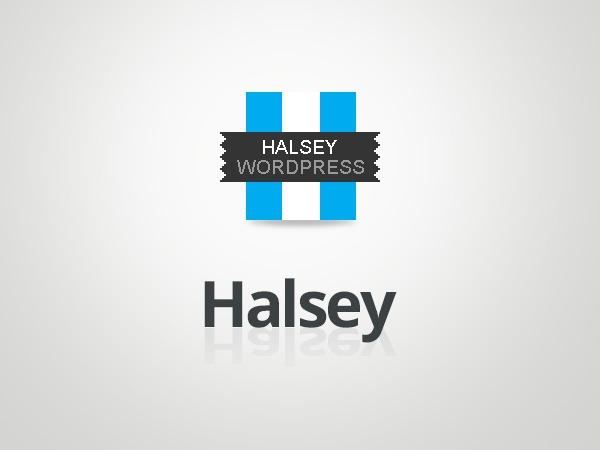WordPress template Halsey