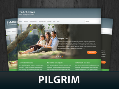 WordPress template Pilgrim