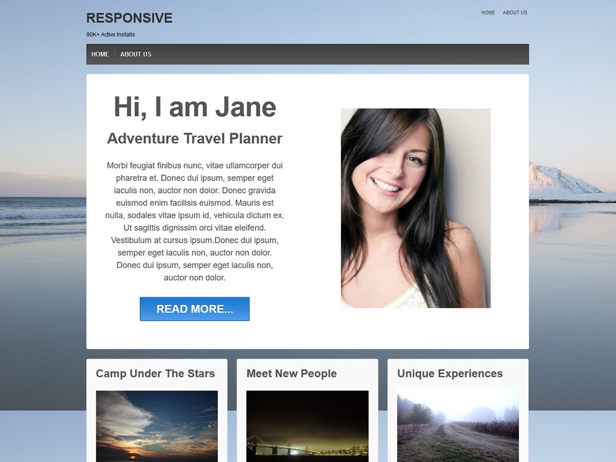 WordPress template Responsive Child theme of responsive